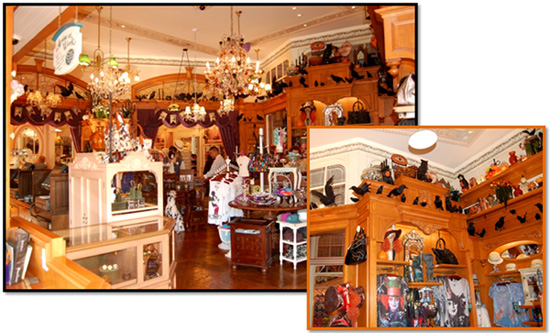 Halloween Decor at Fortuosity Shop at Disneyland Resort