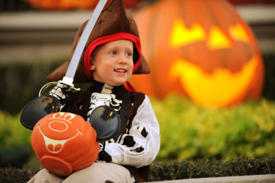 Boy Enjoying Halloween at Disney