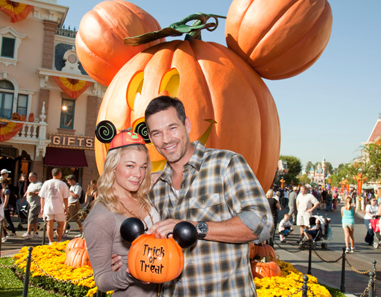 LeAnn Rimes and Eddie Cibrian Celebrate Halloween Time at Disneyland Park