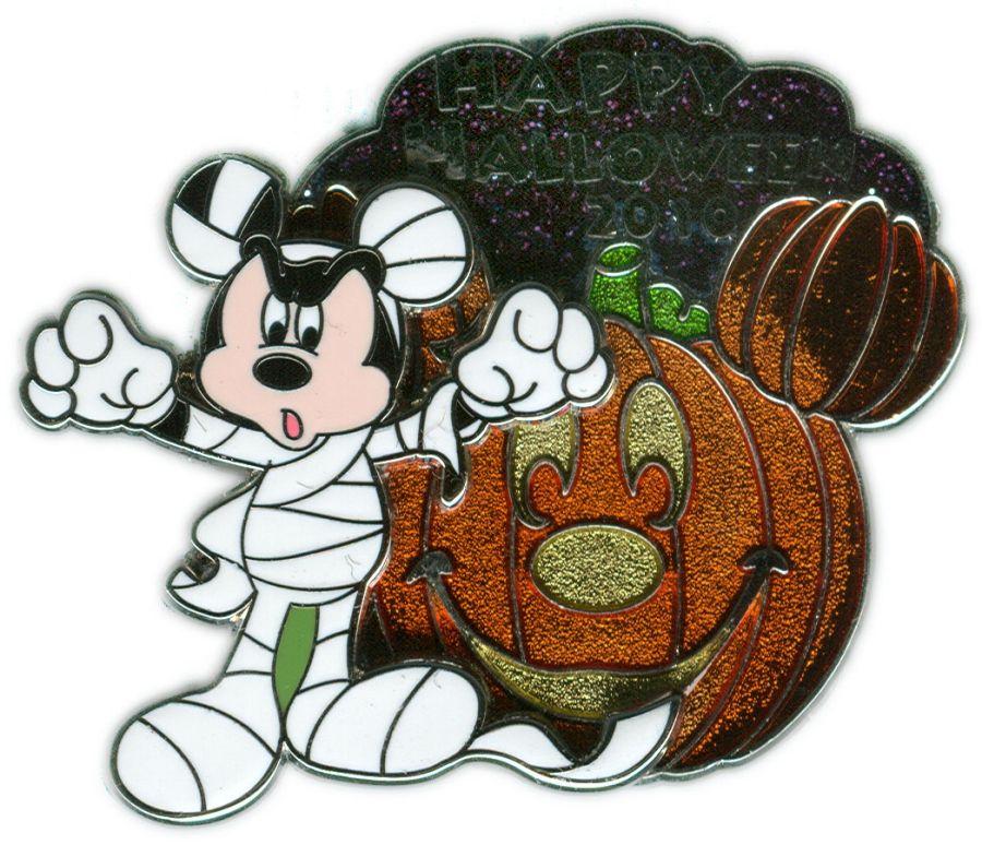 Mummy Mickey and Pumpkin Pin