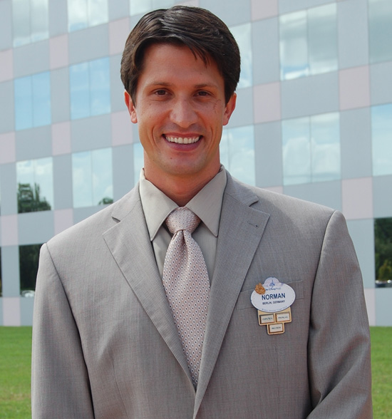 Norman Vossschulte of the 2011-2012 Walt Disney World Ambassador Team