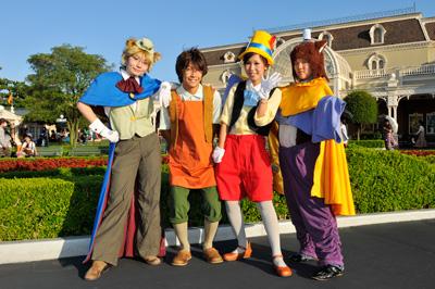 Tokyo Disneyland Guests in Halloween Costumes