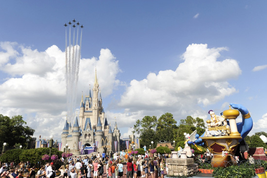 Thunderbirds Fly Over Magic Kingdom Park