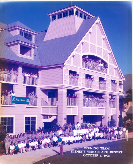 Disney's Vero Beach Resort on Opening Day, Oct. 1, 1995