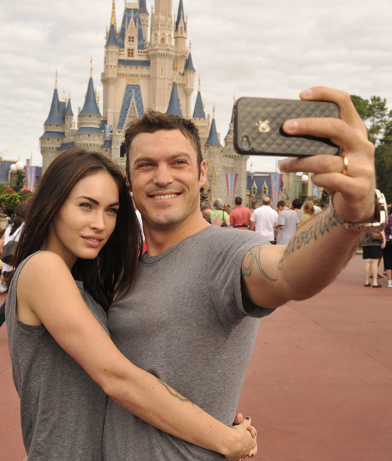 Megan Fox & Brian Austin Green at Magic Kingdom Park