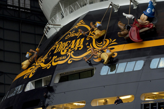 The Disney Dream Cruise Ship Makes Her First Public Appearance in Papenburg, Germany