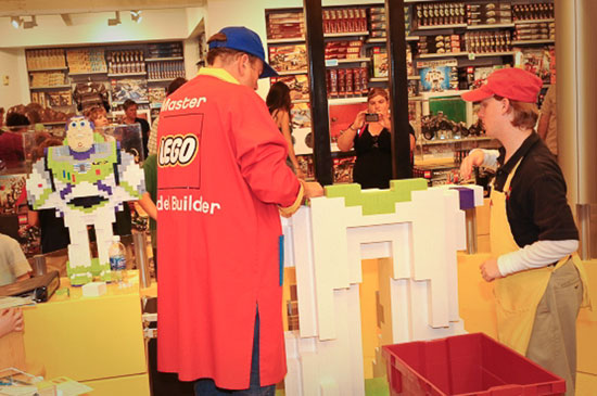 LEGO Master Builder at the 2009 Festival of the Masters