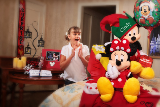 Dreaming of a Disney Christmas' In-Room Celebration Package from Disney Floral &#038; Gifts