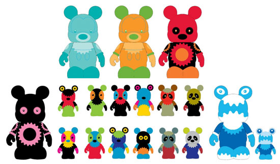 Original Concept Art for the Urban #3 Vinylmation Series