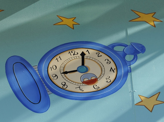 Where at Disney Parks Can You Find This Blue Time Piece?
