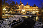 Snow at Disneyland Paris