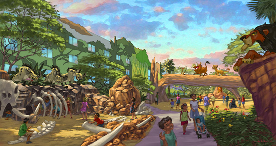 Artist Rendering of 'The Lion King' Area at Disney's Art of Animation Resort