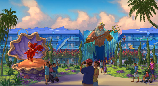 Artist Rendering of 'The Little Mermaid' Area at Disney's Art of Animation Resort