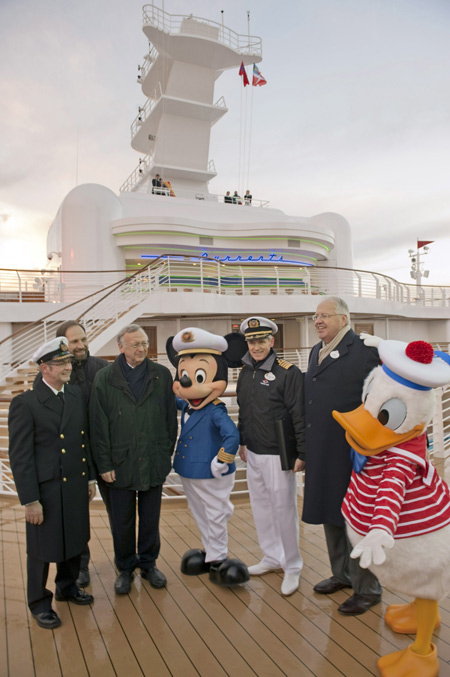 Captain Mickey, Donald Duck and the Crew Members of the Disney Dream