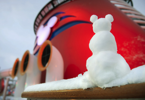 A Winter Wonderland on the Disney Dream
