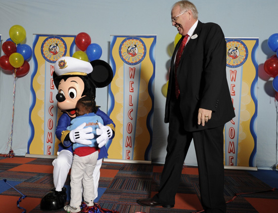 Members of the Mickey Mouse and a Member of the Boys & Girls Clubs of Central Florida