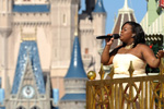 Amber Riley at the Taping of 'Disney Parks Christmas Day Parade' at Magic Kingdom