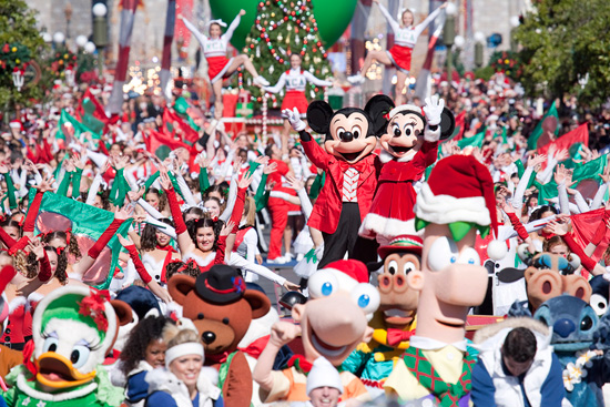 'Disney Parks Christmas Day Parade' TV Taping at the Magic Kingdom