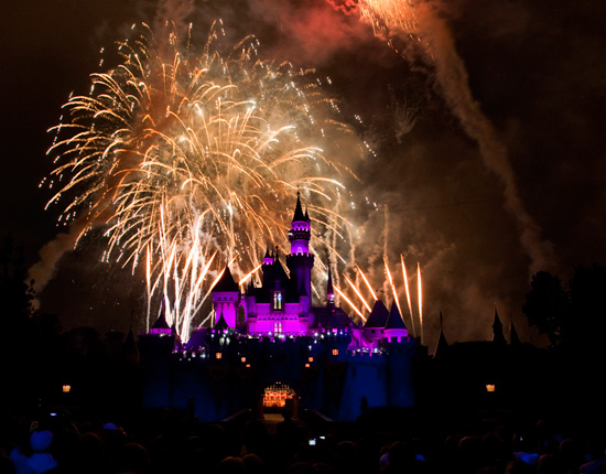 Fireworks at the Disneyland Resort