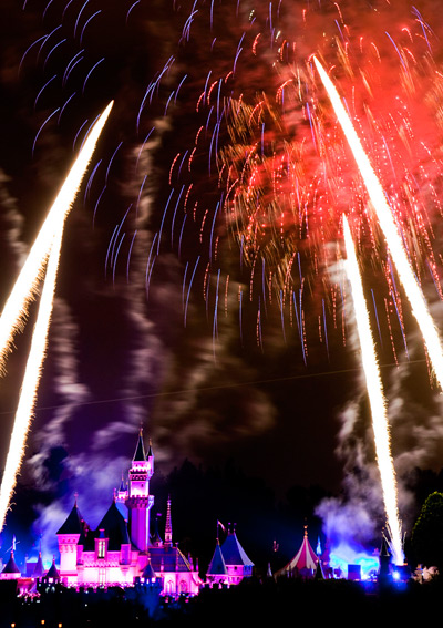 Fireworks at Disneyland Resort