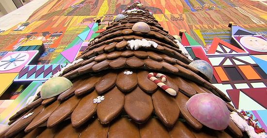 The 17-Foot Gingerbread Tree at Disney's Contemporary Resort