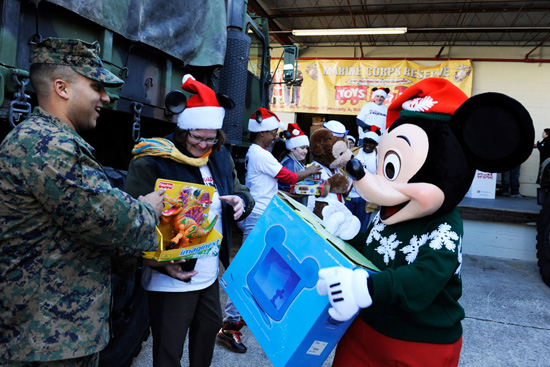 U.S. Marine Corps and Mickey Mouse