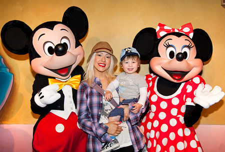 Christina Aguilera Making Memories at the Disneyland Resort