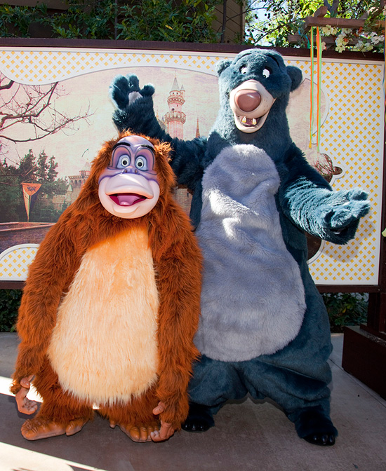 King Louie and Baloo from 'The Jungle Book' at Disneyland Park's Character Fan Days