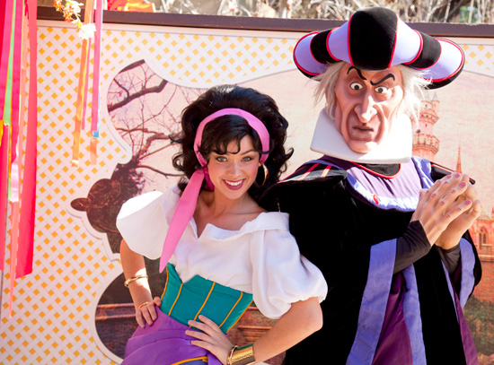 Esmeralda from 'The Hunchback of Notre Dame' at Disneyland Park's Character Fan Days