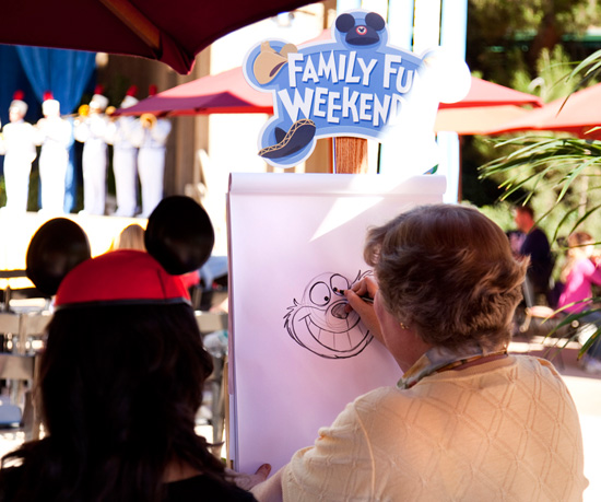A Sketch Artist at Character Fan Days at Disneyland Park