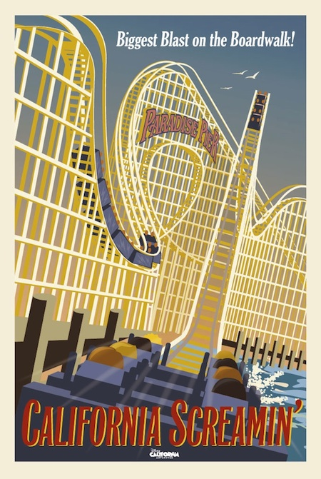 California Screamin Attraction Poster