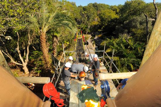 The Rope Bridge at Wild Africa Trek Experience at Disney's Animal Kingdom