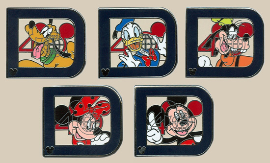 Classic Disney 'D' Character Hidden Mickey Pins Coming to Walt Disney World Resort