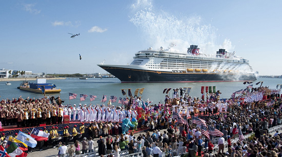 Disney Dream Christening Ceremony in Port Canaveral, Florida