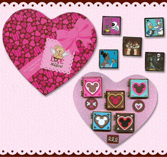 'Love is Magical' 'Box of Chocolates' Pin Set