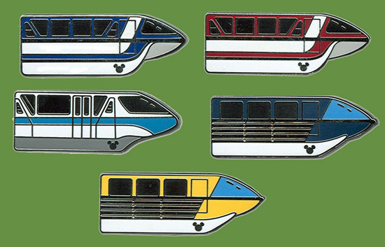 New Disneyland Monorail Hidden Mickey Pins for Disneyland Resort
