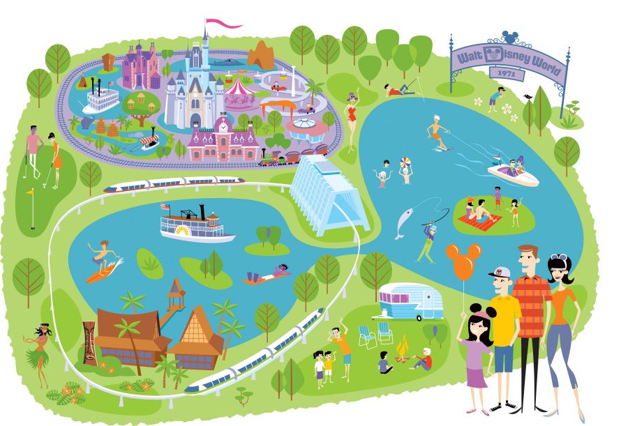 graphic relating to Printable Map of Disneyland named Disney map artwork