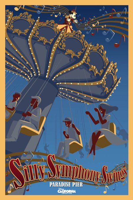 Silly Symphony Swings Attraction Poster