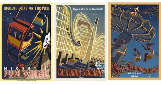 Paradise Pier Attraction Posters