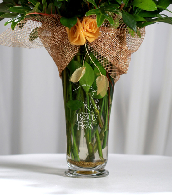 'Beauty and the Beast' Etched-Glass Vase From Disney Floral & Gifts