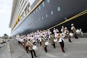 A Bahamian marching band welcomes the Disney Dream to Nassau