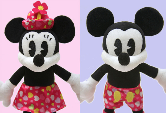 Mickey & Minnie Valentine's Day Plush