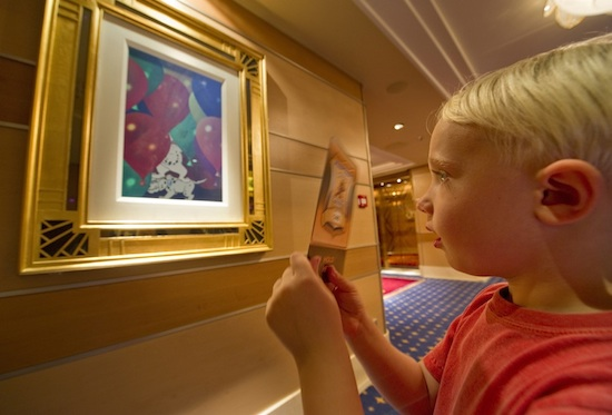 Guests can play a detective adventure game using pieces of Enchanted Art around the Disney Dream