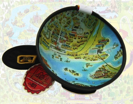 1970s Map Printed on the Underside of the 40th Anniversary Ear Hat