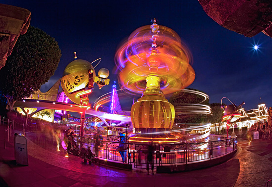 The Astro Orbitor in Tomorrowland at Disneyland Park