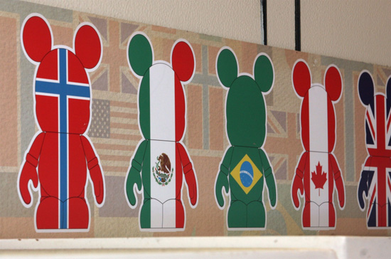 Flag Vinylmation Figures Display