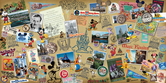 Walt Disney World 40th Anniversary Merchandise Collage