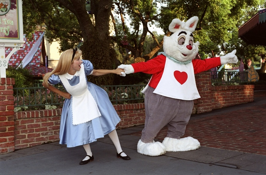 White Rabbit and Alice in Wonderland