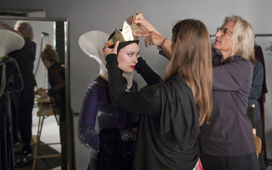 Olivia Wilde Preparing for the Evil Queen Photo Shoot