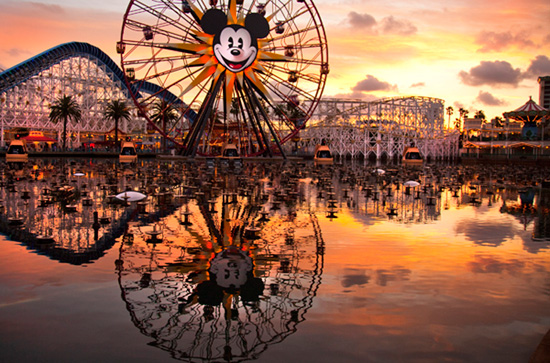 Before and After: Things That Spin in the Night at Disney California Adventure Park